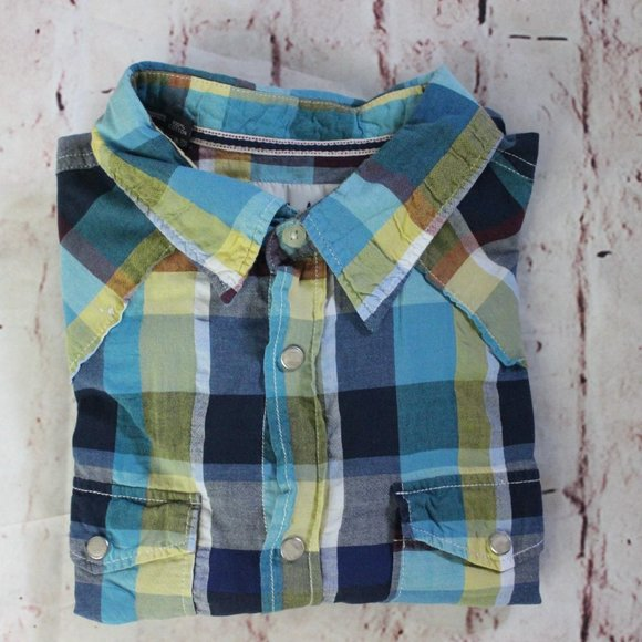 Checkered Other - Women's Super Bad Checkered Sz large Green & Blue